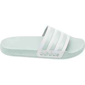 adidas Adilette Shower Slides Dames, green tint/footwear white/green tint